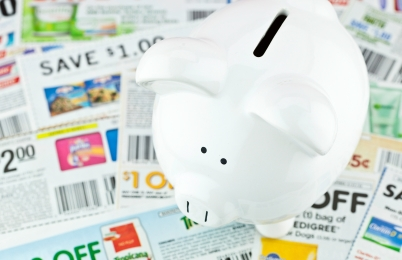Piggy Bank With Discount Coupons